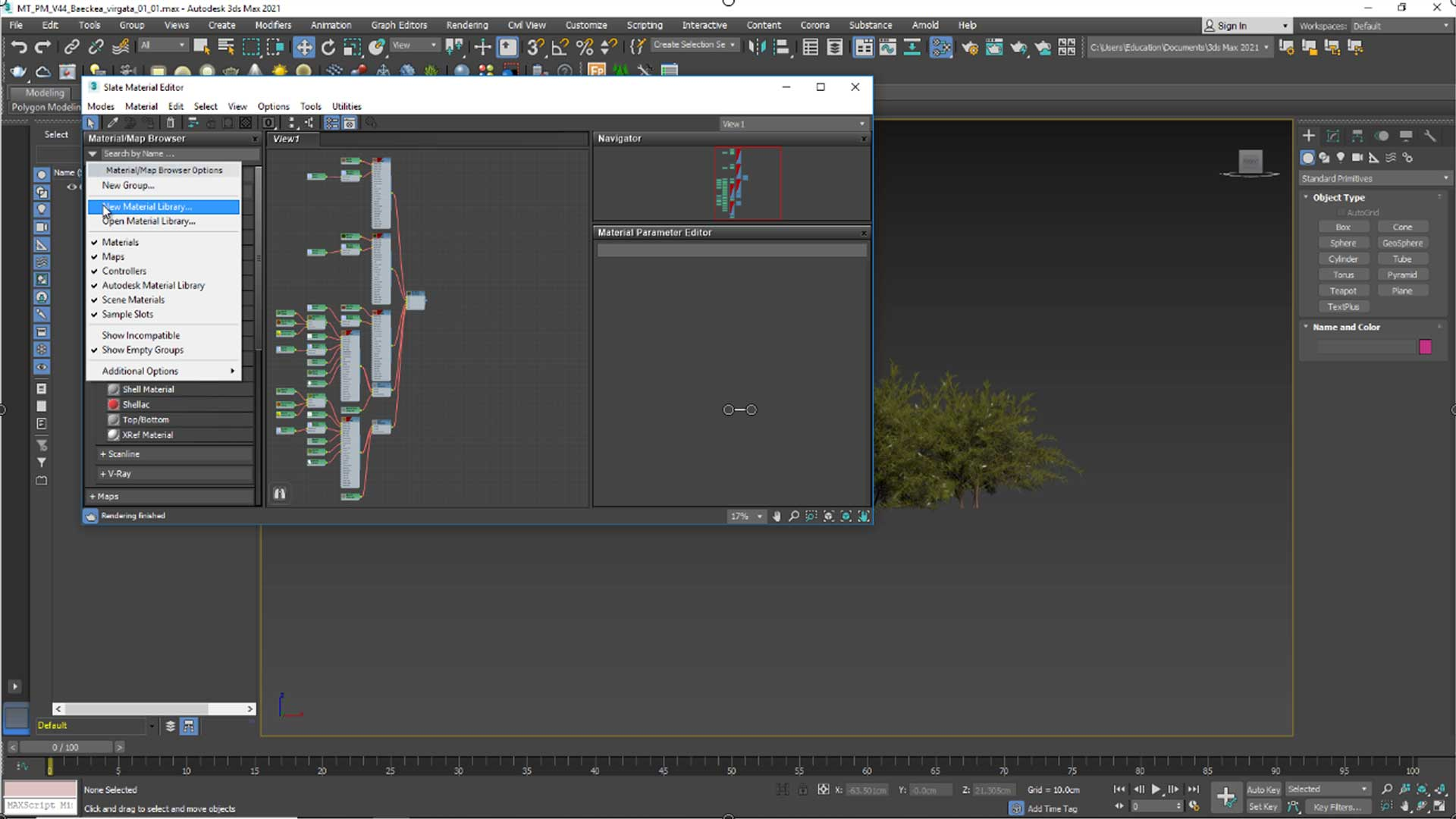 forest free tutorial Material and Rendering make Library for materials