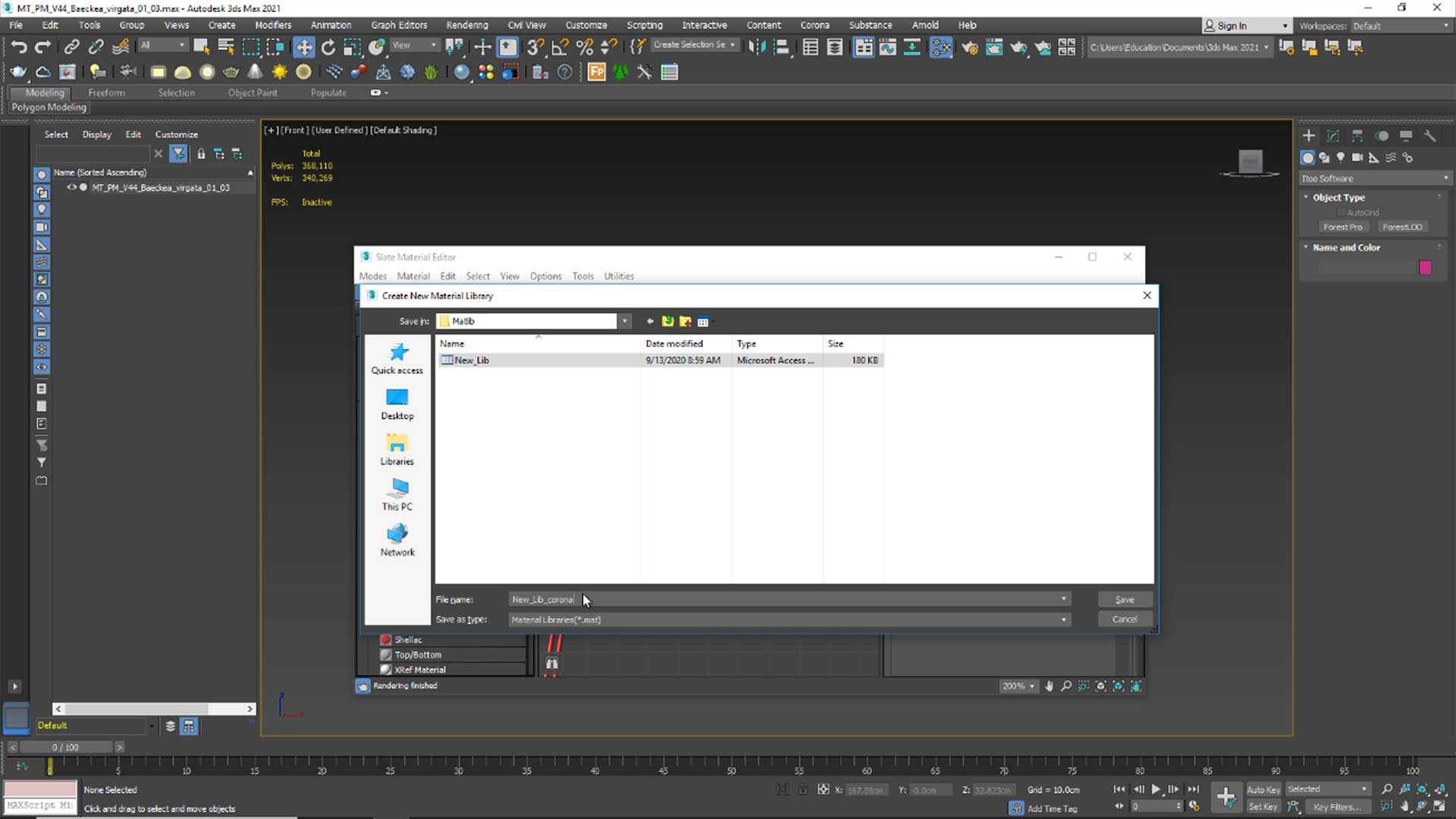 forest free tutorial Material and Rendering importing