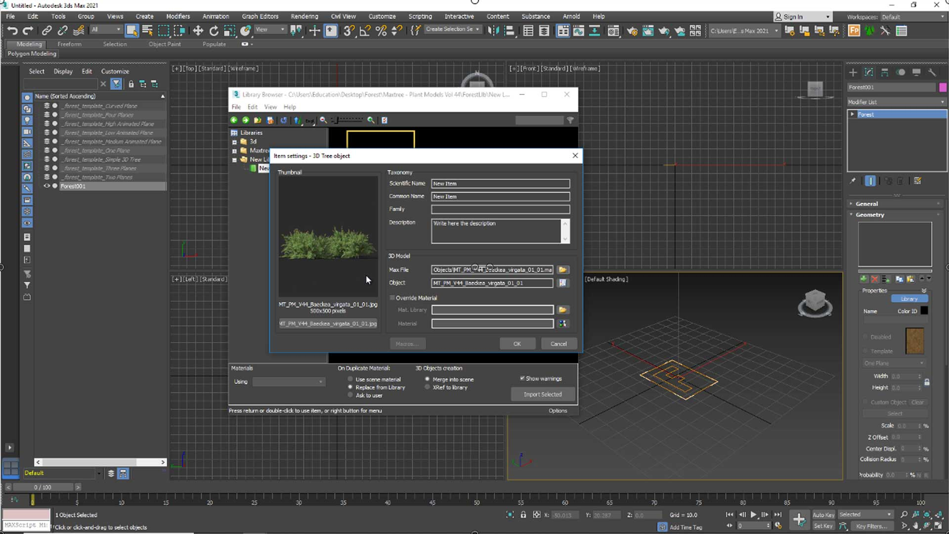 forest free tutorial Material and Rendering Show Title