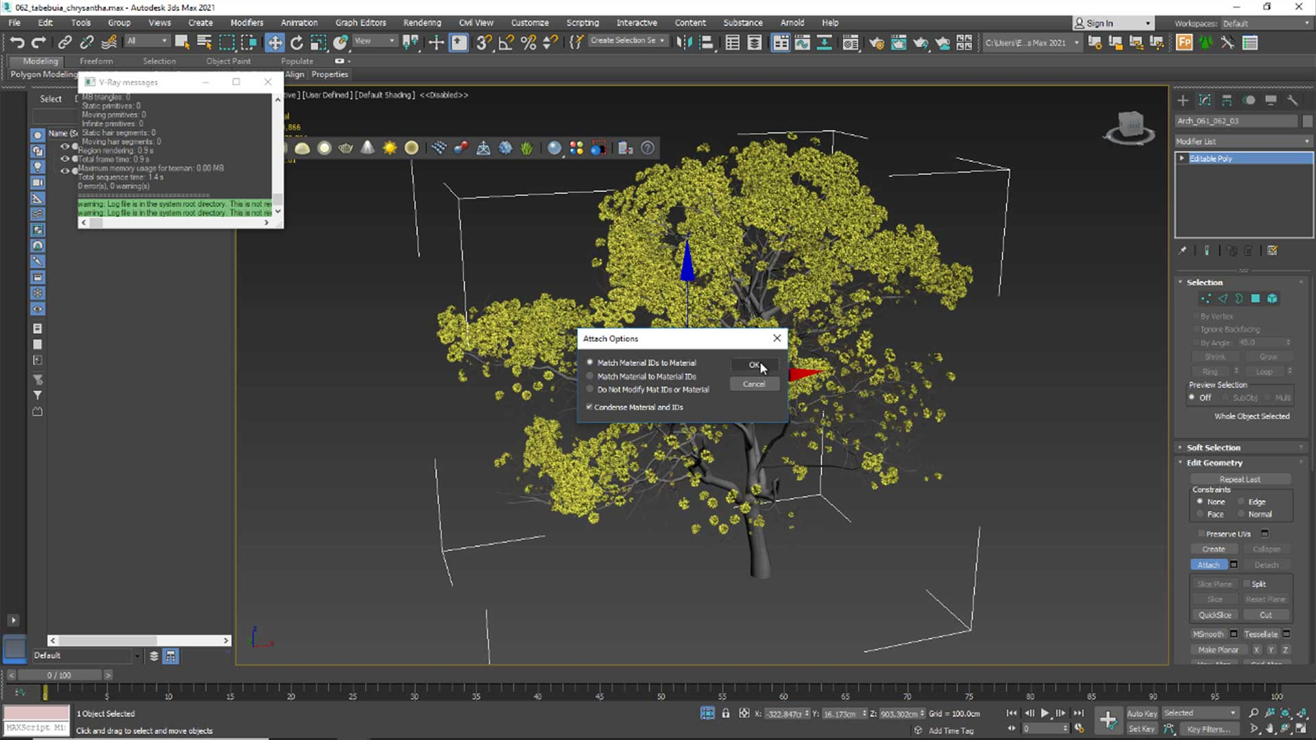 forest free tutorial Material and Rendering attaching